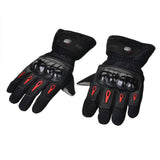 Pro-Biker Motorcycle Warm Waterproof Gloves - Black - (FSLV)