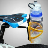 Bike Bicycle Saddle Tail Mounted Dual Water Bottle Holder - Black (FSLV)
