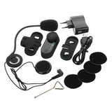 Motorcycle Helmet BT Interphone Hands-free - Black (Max. 1000m) - (FSLV)