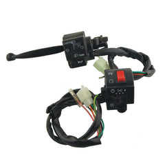 2-in-1 Motorcycle Handle Bar Switches - Black (DC 12V / 24V)  (FSLV)