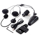 Helmet Bluetooth Motorcycle Interphone Intercom Headset - Black (FSLV)