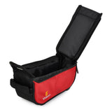 Bicycle Nylon Top Tube Bag for GPS / Cellphone - Red (FSLV)