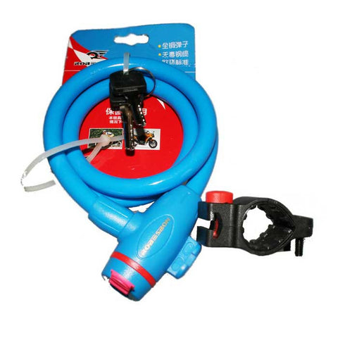 ROBESBON Anti-Theft Bicycle Wire Lock for Mountain Bike - Blue(1m) (FSLV)