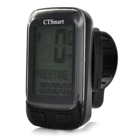 "ctsmart-22-functional 1.7"" Screen Bike Computer w/ Stop Watch - Black (FSLV)"