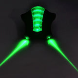 Bicycle 5-LED 7-Mode Green Light 2*Red Laser Tail Light - Green  (FSLV)
