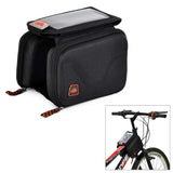 Outdoor CyclingEVA Touch Screen Top Tube Double Bag - Black (FSLV)