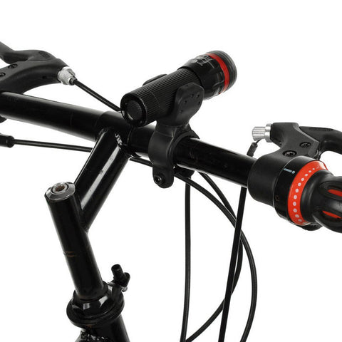 Red Tail Light + 1-LED 3-Mode White Zooming Flashlight for Bike - Red (FSLV)