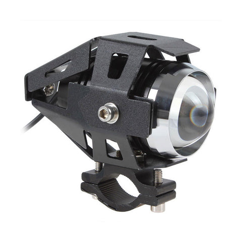 30W White Motorcycle Headlight Spotlight Waterproof Fog Lamp w/ Switch (FSLV)
