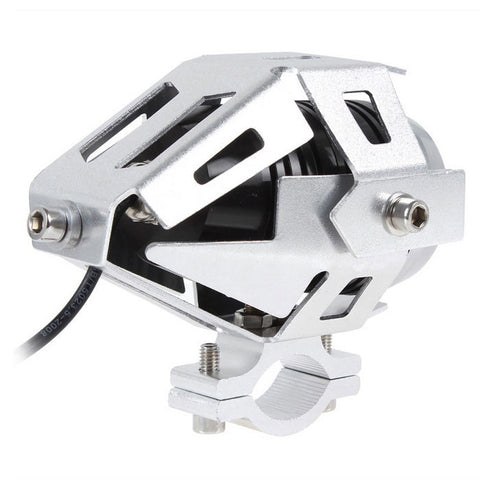 30W Cool White LED Motorcycle Headlight Spotlight w/ Switch (FSLV)