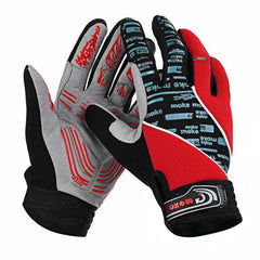 Moke Anti-Shock Touch-Screen Full-Finger Cycling Gloves - Red - (FSLV)