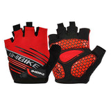 INBIKE Anti-Shock Breathable Half-Finger Gloves - Red (M) - (FSLV)