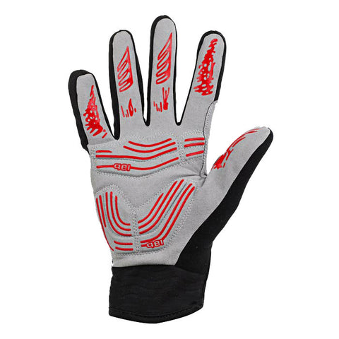 Moke Anti-Shock Touch-Screen Full-Finger Cycling Gloves - Black - (FSLV)