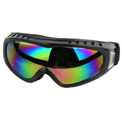 Outdoor Cycling Windproof PVC Lens Goggles - Black + Multicolor (FSLV)
