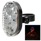 3-Mode Multi-color Bike Laser Tail Light - White + Black (FSLV)