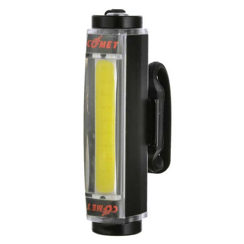 Aluminium Alloy White Light 16-LED 3-Mode Safety Bike Lamp - Black (FSLV)
