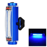 Aluminium Alloy Blue Light 16-LED 3-Mode Safrty BikeTail Lamp -Blue  (FSLV)