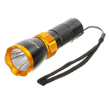 Soldier Handlebar Mounted White 3-Mode LED Bike Light Headlight - Orange (FSLV)