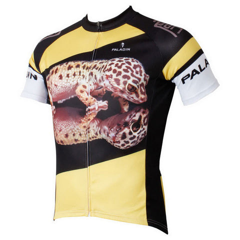 Paladinsport Gecko Pattern Bike Short-Sleeve T-Shirt - Yellow