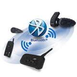 Vnetphone V8 1200m 5 Riders Motorcycle Bluetooth Helmet Intercom - (FSLV)