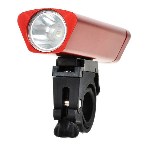 Leadbike Waterproof 3-Mode Cool White Light Bike Headlamp - Red (FSLV)