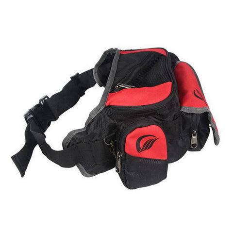 RidingTribe Motorcycle Sports Large Capacity Waist Bag - Red + Black (FSLV)