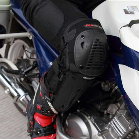 PRO-BIKER Motorcycle Racing Elbow / Knee Protectors Set - Black