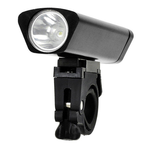 Leadbike Waterproof 3-Mode Cool White Light Bike Headlamp - Black (FSLV)