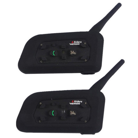 Vnetphone V6 EU Motorcycle Helmet Bluetooth Interphones Pair (FSLV)
