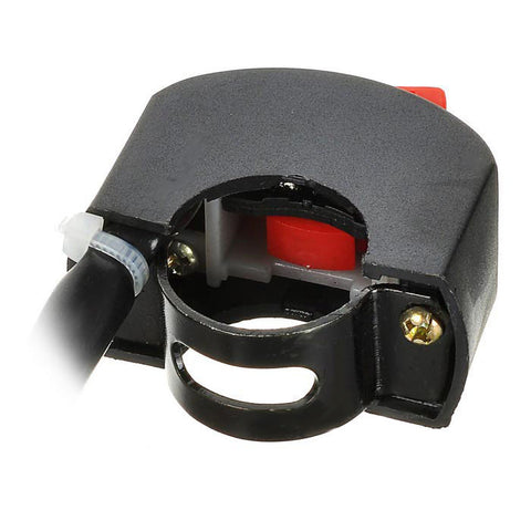 Handle Bar Switch for Motorcycle - Black + Red (FSLV)