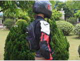 RidingTribe Motorcycle Backpack w/ Drinking Water Bladder Bag - Black (FSLV)