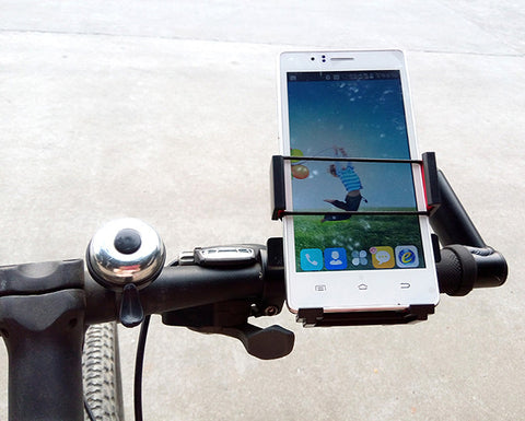 RUITAI Universal Bike Bicycle Mount Cell Phone Holder - Black (FSLV)