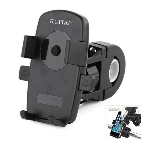 Ruitai X5 Adjustable Bicycle Bracket Antiskid Bike Phone Mount - Black (FSLV)