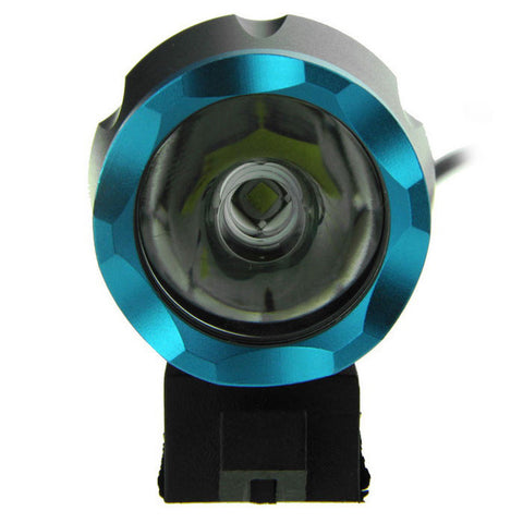 FandyFire XM-L T6 8-Mode Cool White 900lm Bike Headlamp - Black + Blue (FSLV)