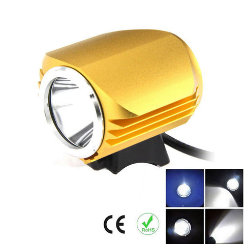 FandyFire T6 Cool White LED Headlight for Mountain Bike - Golden (FSLV)