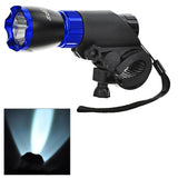 Soldier Handlebar Mounted White 3-Mode LED Bike Light Headlight - Blue (FSLV)
