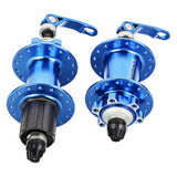 CYCLETRACK CK 32-Hole Quick Release Bike Hubs - Blue (2PCS)  (FSLV)