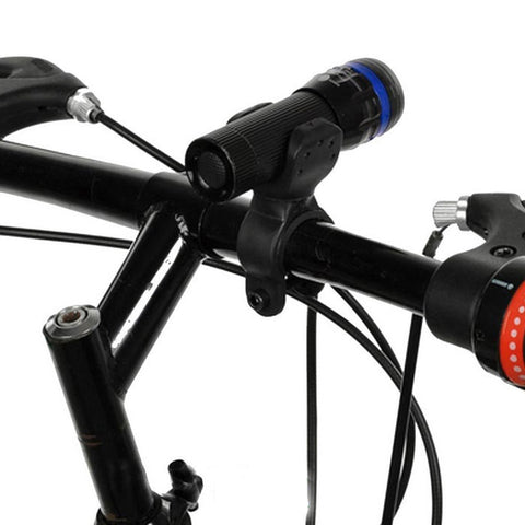 5-LED 7-Mode Red Tail Light + White Zooming Flashlight for Bike - Blue  (FSLV)