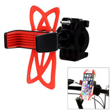 Universal Bike Handlebar Mount Holder for Cellphone - Black + Red (FSLV)
