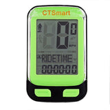"CTSmart 22-Functional 1.7"" Screen Bike Computer w/ Stop Watch - Green  (FSLV)"