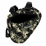 CTSmart Bicycle Bike Triangle Top Tube Bag - Green Camouflage (FSLV)