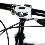 4-Mode 3-LED Bike Headlamp / Taillight Red + Cool White Light - White (FSLV)