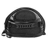 Riding Tribe PU Leather Motorcycle Fuel Tank Backseat Bag - Black (FSLV)