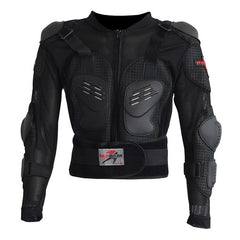 PRO-BIKER HX Motorcycle Riding Safety Armor Jacket - Black (FSLV)