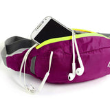 Wind Tour Water Resistant Waist Bag w/ Adjustable Strap - Deep Pink
