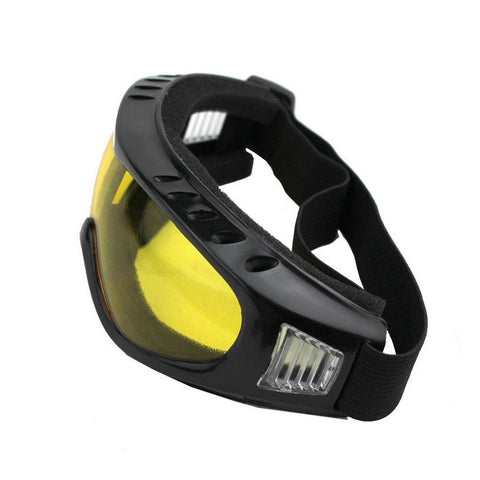 Outdoor Cycling Windproof PVC Lens Goggles - Yellow + Multicolor (FSLV)
