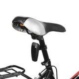 Automatically 10-LED Fast Strobe Bike Taillight Red Light - Black  (FSLV)