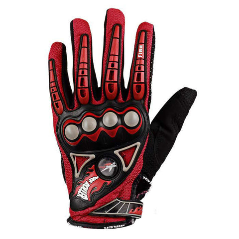 PRO-BIKER Bike Cycling Breathable Full-Finger Gloves - Red (FSLV)