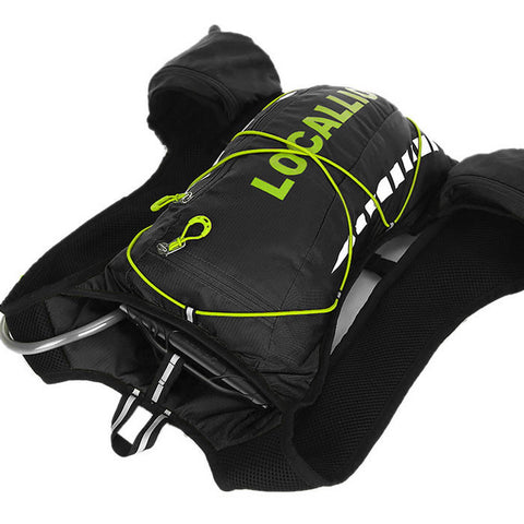 LOCAL LION Cycling Backpack  - Black + Green (20~25L) (FSLV)