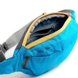Wind Tour Sports Water Resistant Waist Bag w/ Adjustable Strap - Blue (FSLV)