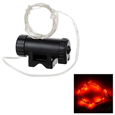 20-LED Red Bike Wheel Spoke Light - Black + Silver (FSLV)